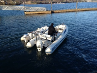 Novurania yacht tenders in the water in Vancouver.