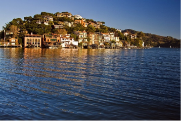 Tiburon from the water