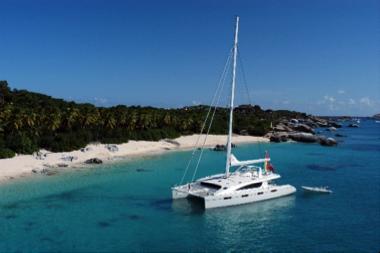 Easy anchorage near Tortola