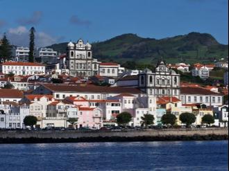 Unique architecture of Horta, showing the blend of European maritime cultures