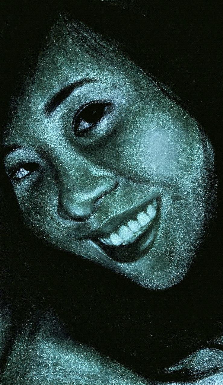 Self-Portrait, 2008  Pastel on Paper