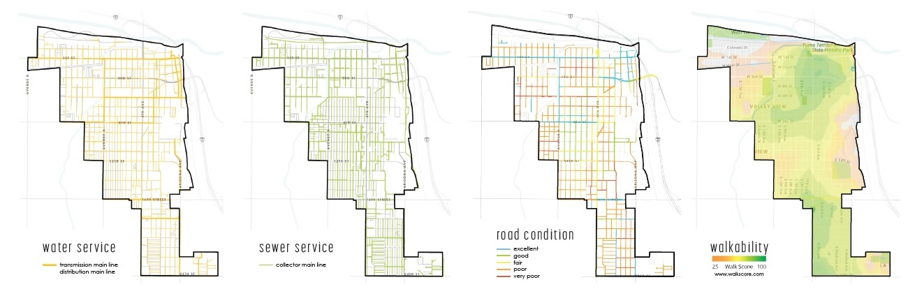 Analysis of existing infrastructure within the Infill Overlay District.