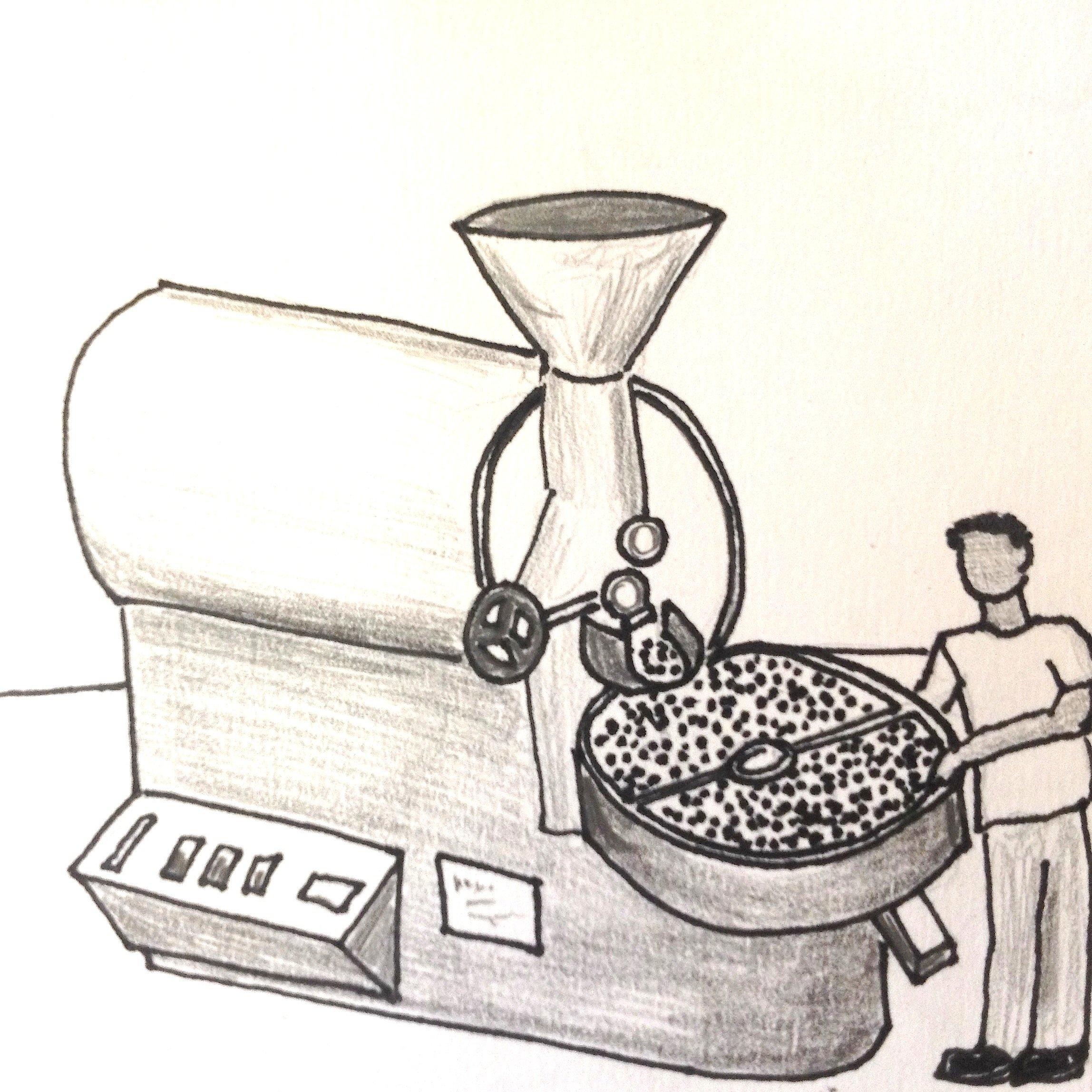 We are always freshly roasting coffee.