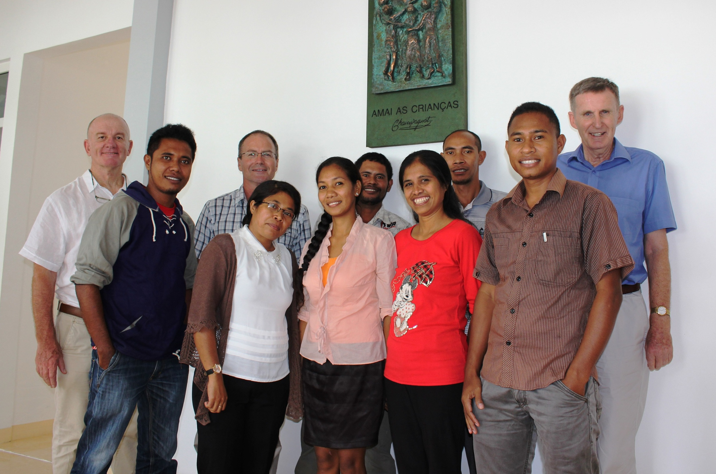 Brothers Peter, Tony and Michael with teaching staff at the Catholic Teachers College Baucau.