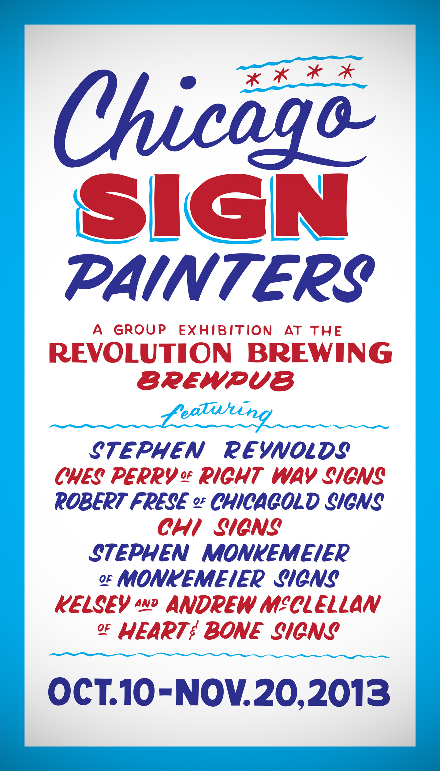 My humble lettering on the official show card!