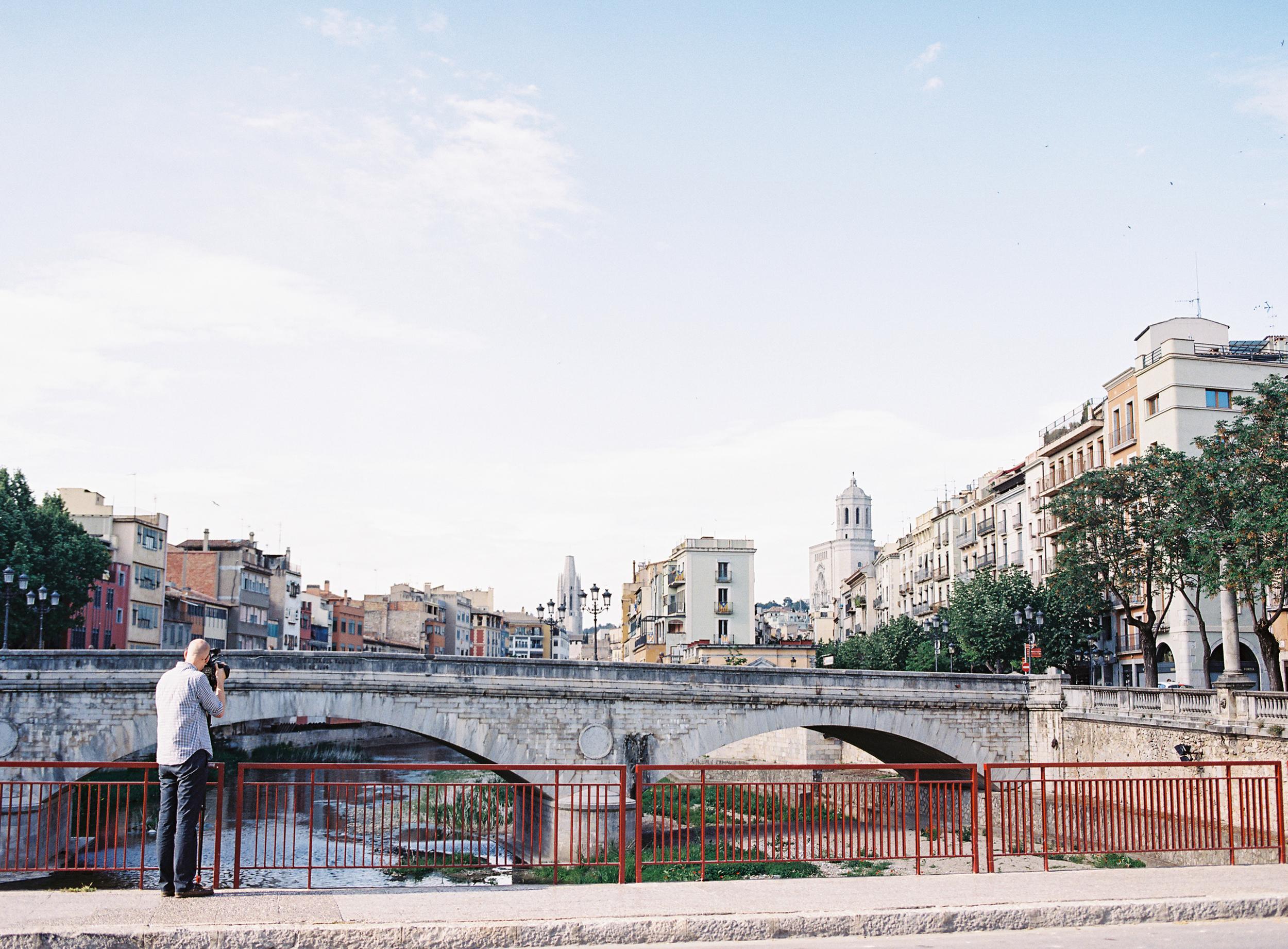 Me filming in Girona, Spain (Photo by  Jen Wojcik )