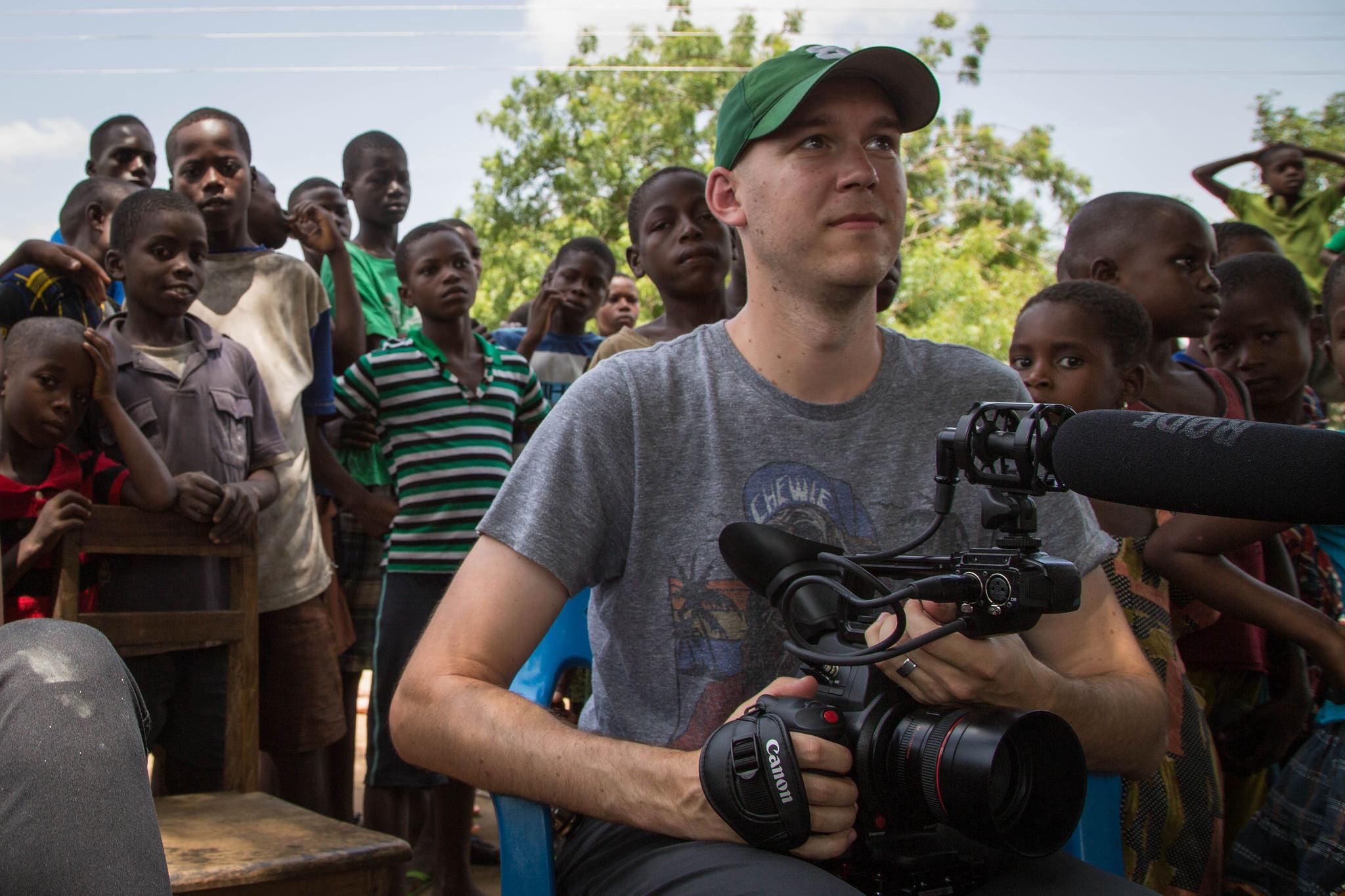 Me filming in Ho, Volta Region, Ghana