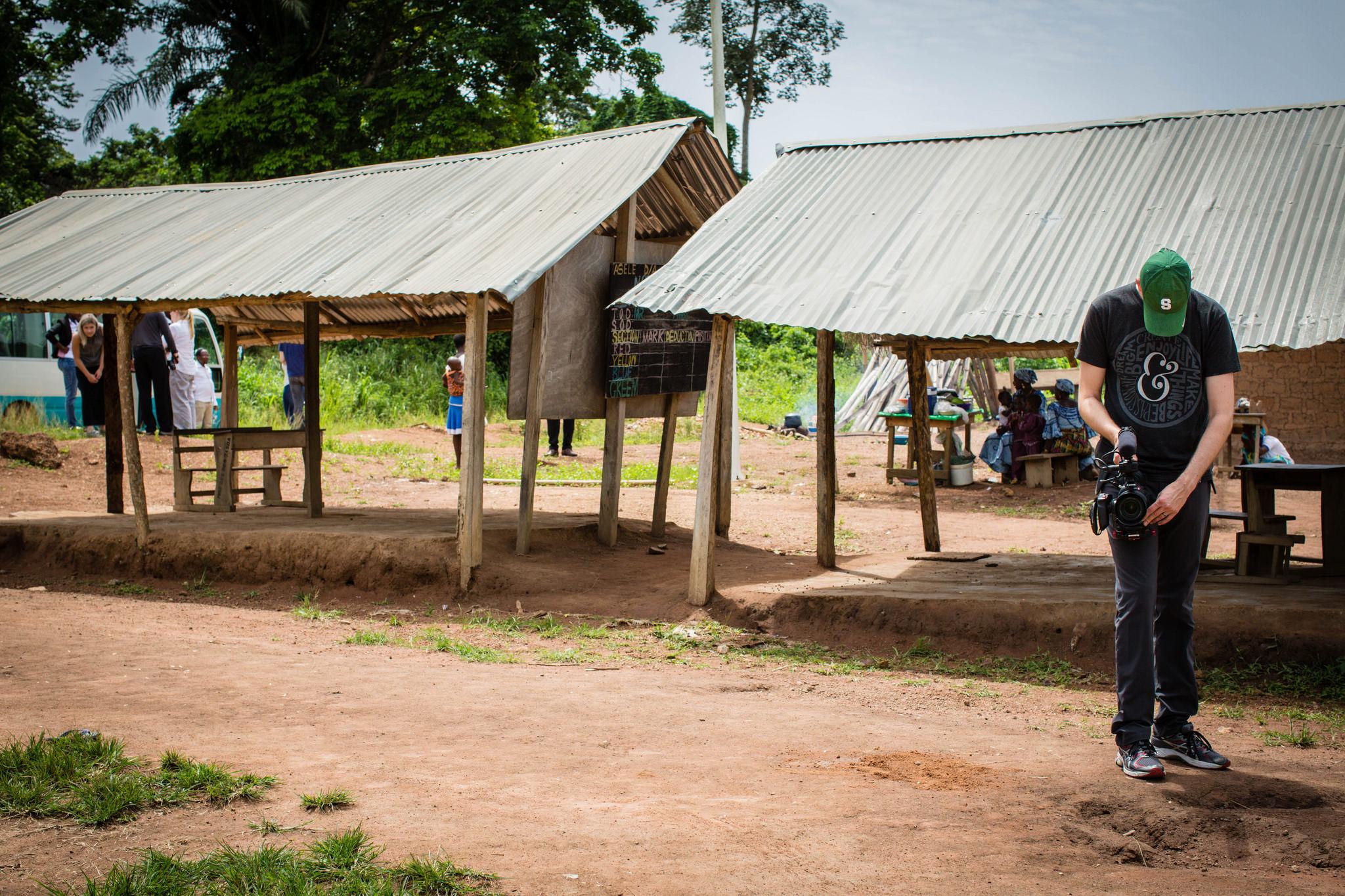 Filming in Ho, Volta Region, Ghana