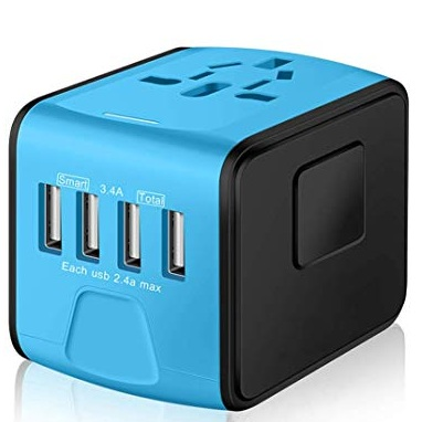 Power Adapters - You'll need a couple outlet plug adapters for all your electronics. Most of Europe uses the same plug - so any Euro adapter will do. I like the SAUNORCH Universal International Travel Power Adapter because it allows for multiple usb connections.