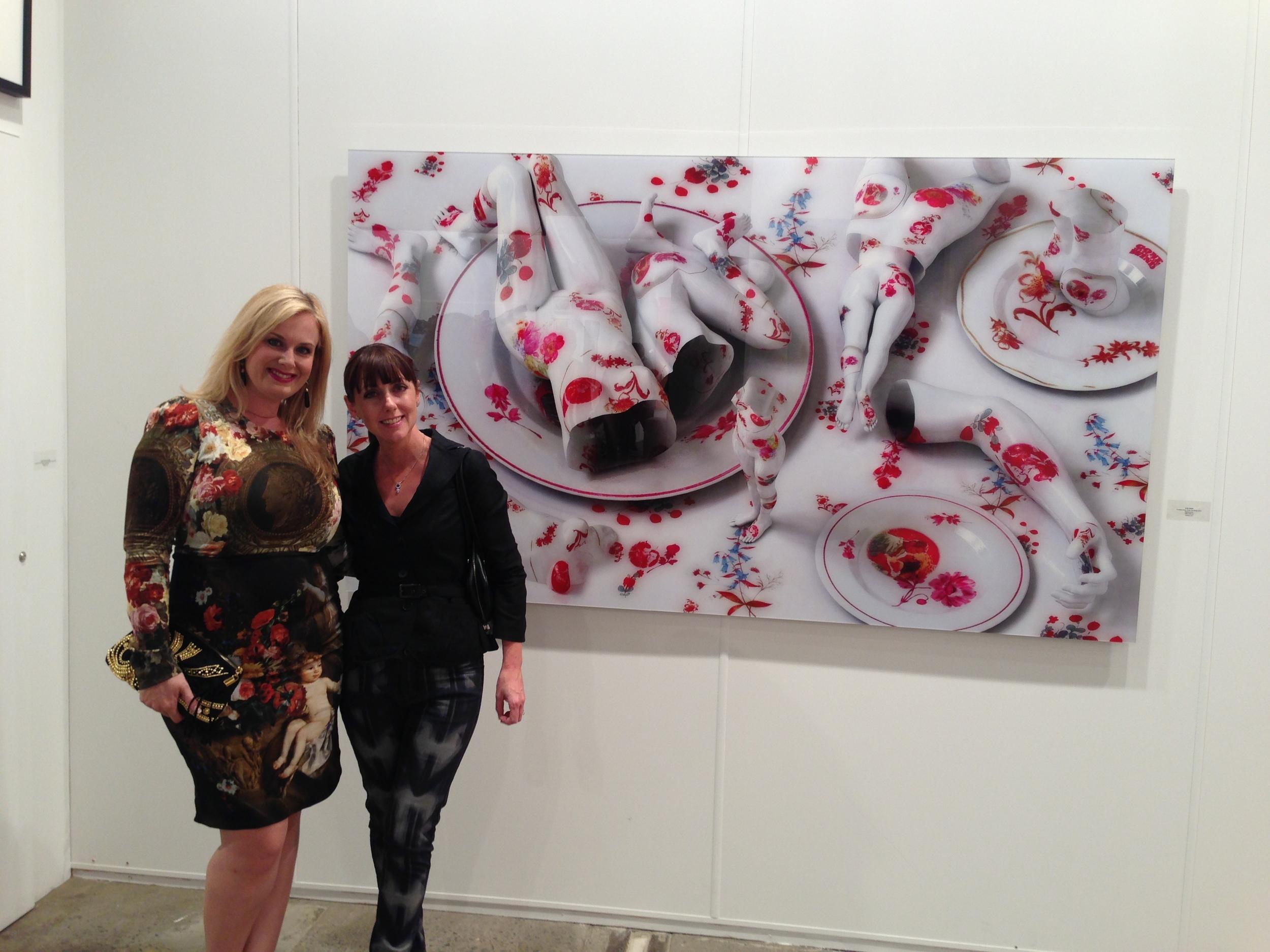 Viewing Kim Joon's work at Sundaram Tagore Gallery, New York, Hong Kong & Singapore, with Emma Hack at the VIP Collectors Preview