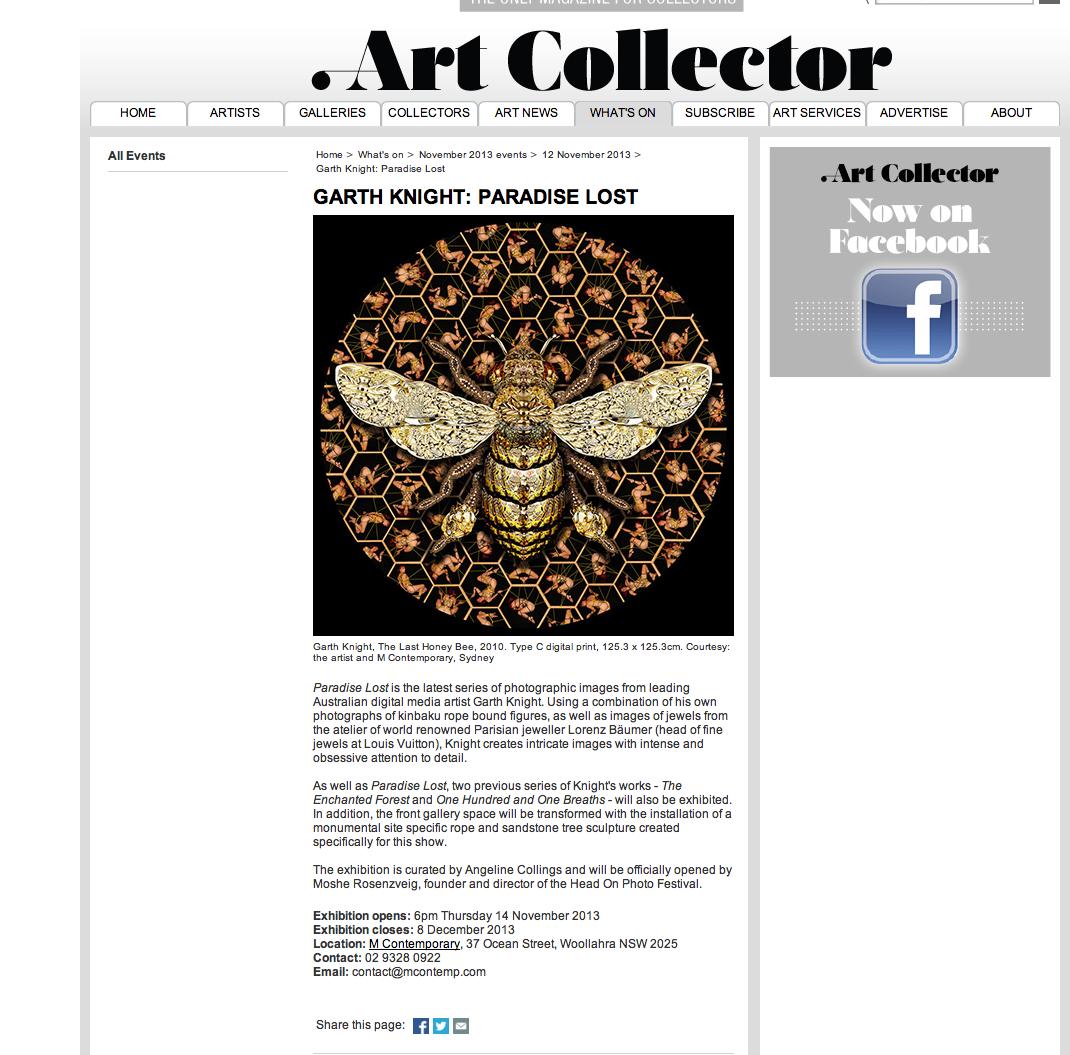 Thank you Art Collector magazine!!