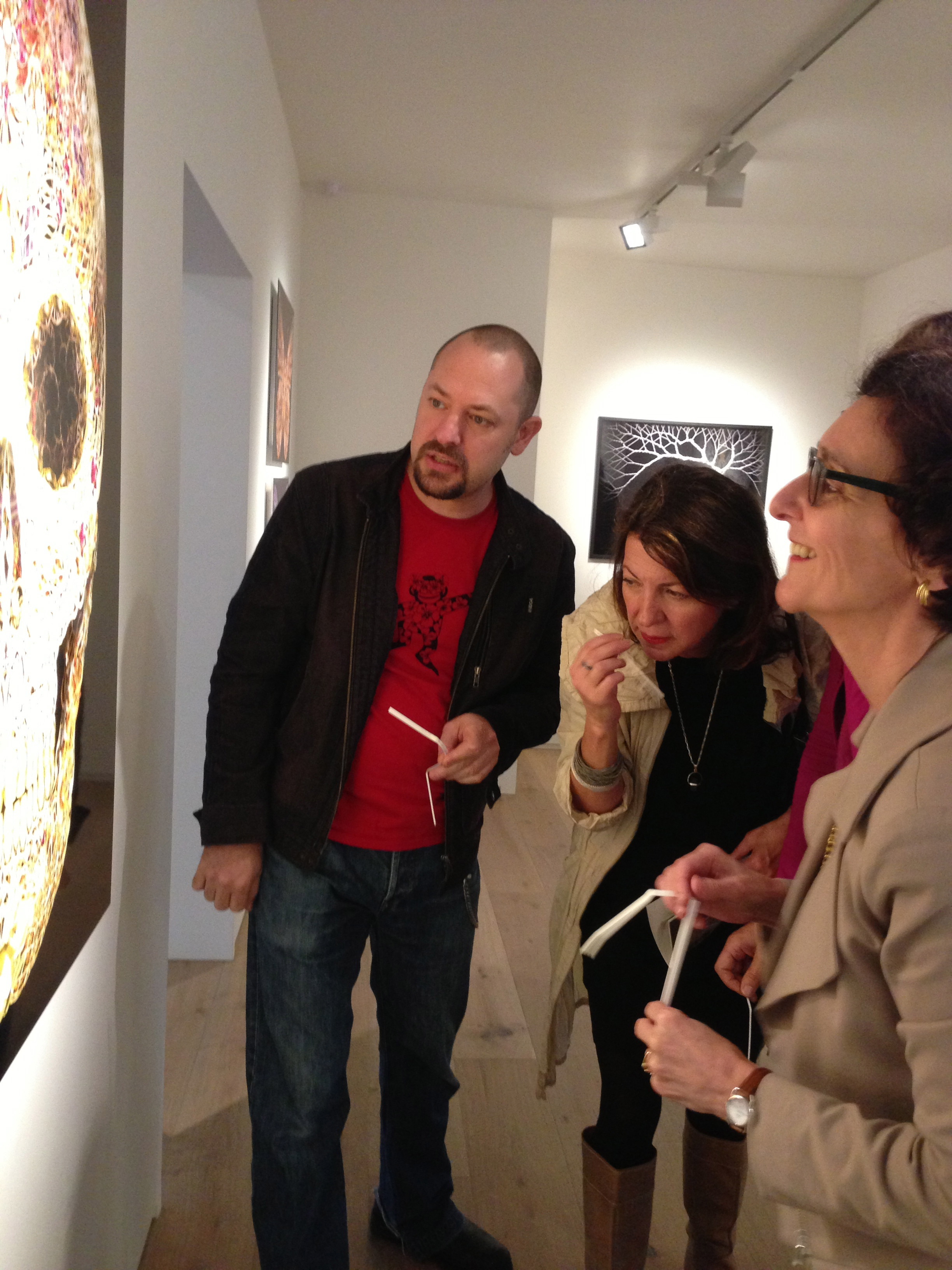 Garth Knight and Catherine du Peloux Menage (right) with guests at .M Contemporary, Sun 17.11.13