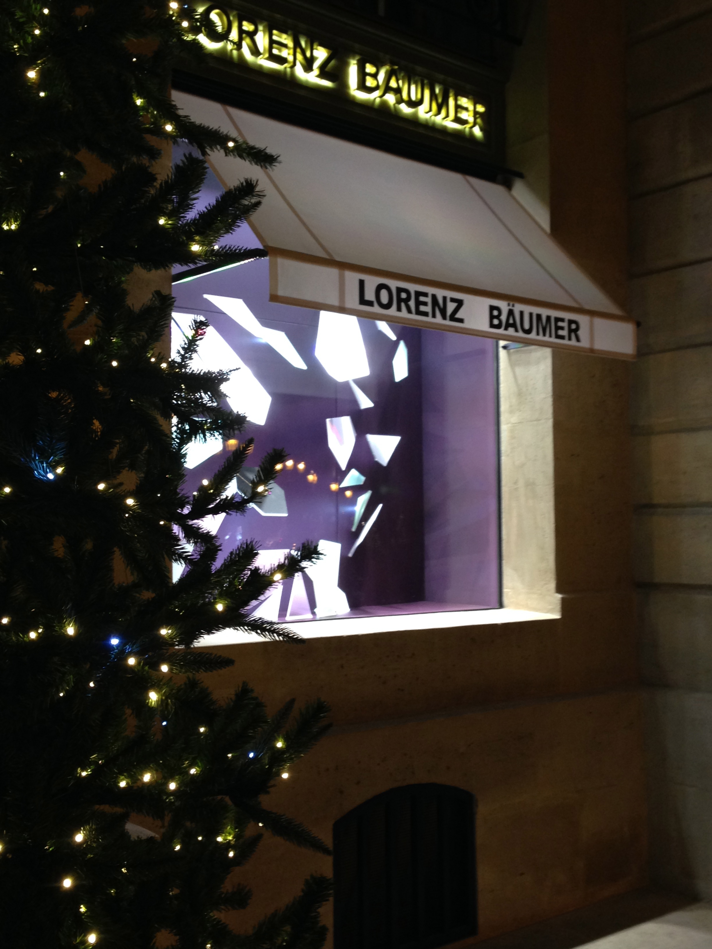 Visiting Garth Knight collaborator and collector, Lorenz Baumer, Place Vendome, Paris 3.12.13