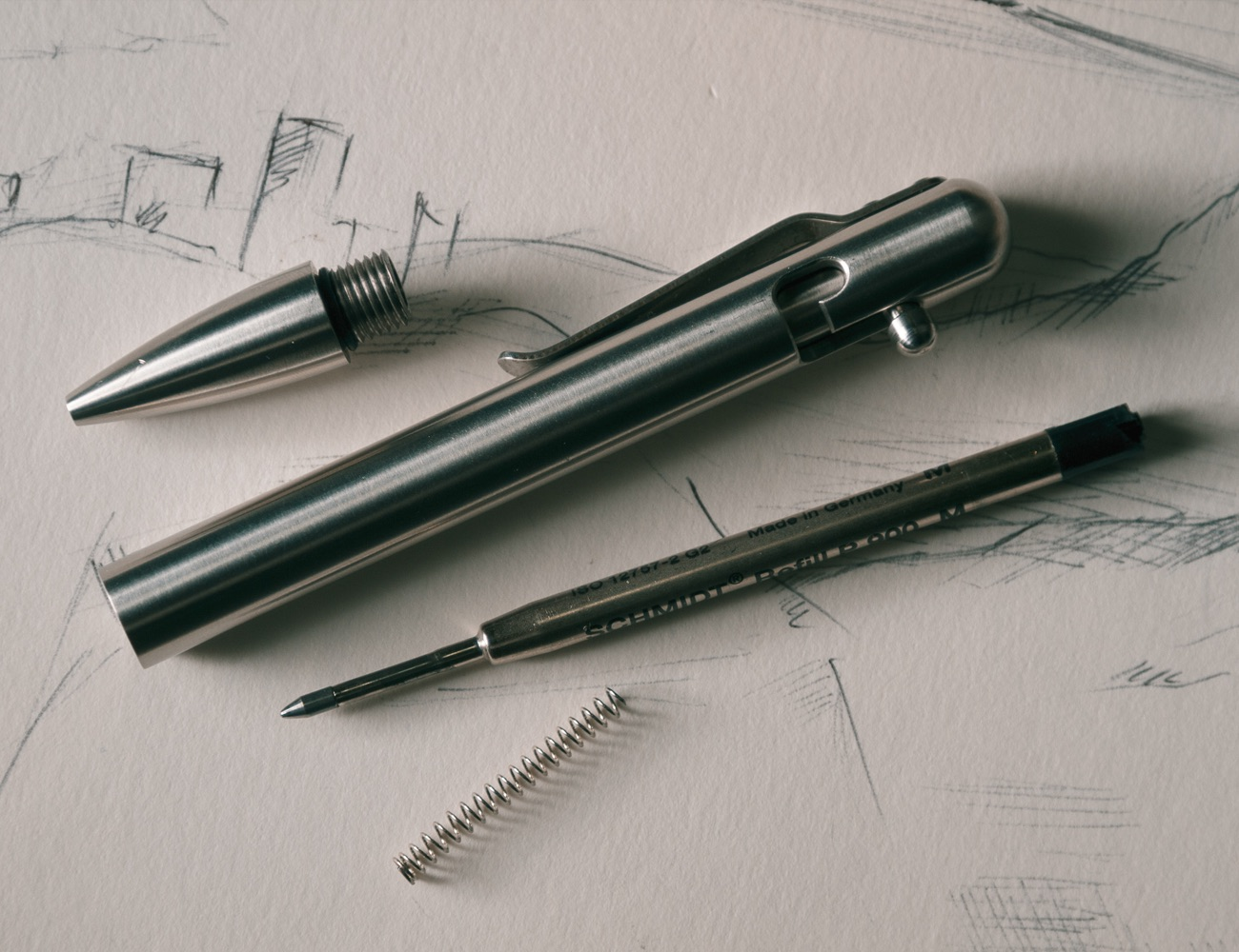 Bolt Action Pen Stainless Steel Or Carbon Fiber Precision Machined Choose Type Empire Tactical Usa
