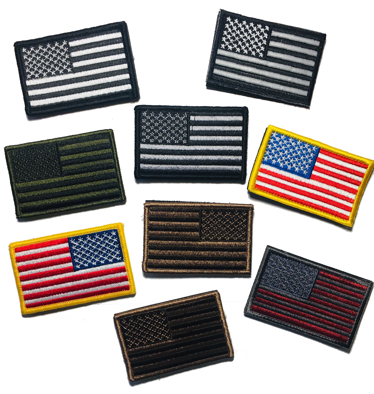 3.5 X 2 Inch Black and Pink US Made American Patriotic Flag Durable USA Morale Uniform Patch Empire Tactical USA