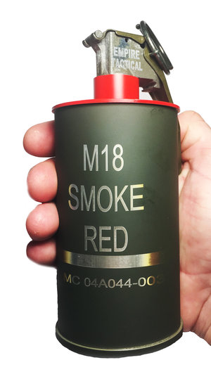 M18 Red Smoke Grenade 10 Oz Flask - 100% American Made - CNC Machined -  PRE-ORDER — Empire Tactical USA