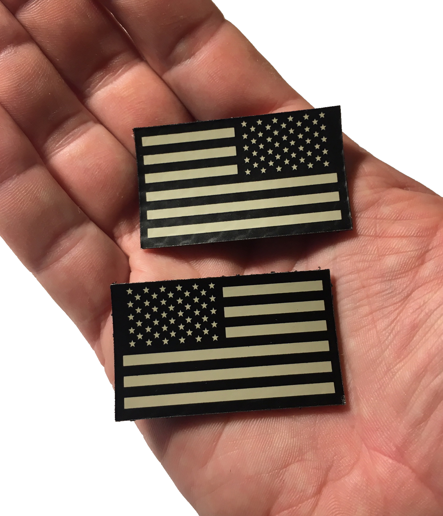 EMPIRE TACTICAL - USA Reversed Black and Tan Infrared Reflective USA Flag Military Patch