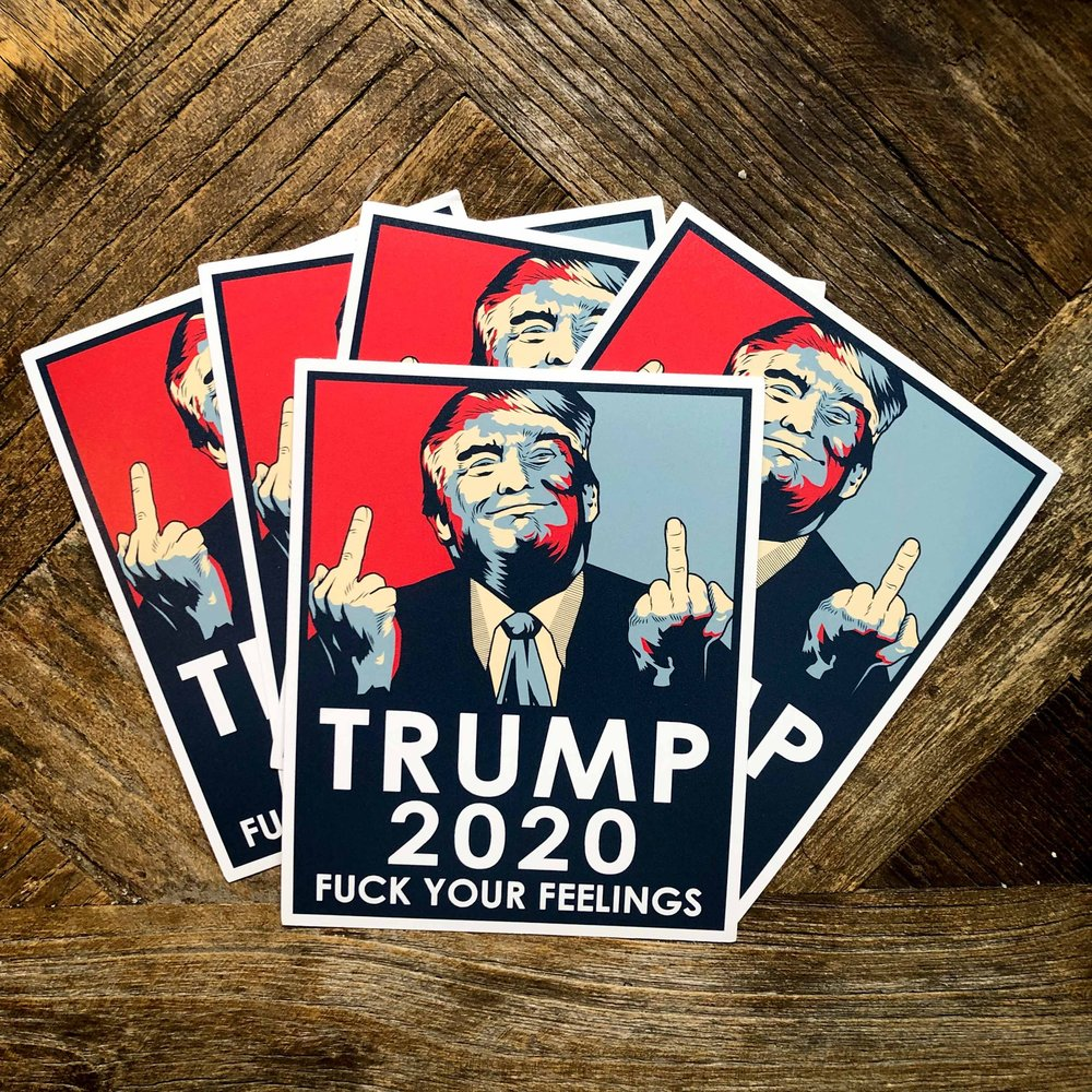 5 pack Trump  4x5 Inch Sticker Decal 2020 Made in USA Impeach This Trump 2020