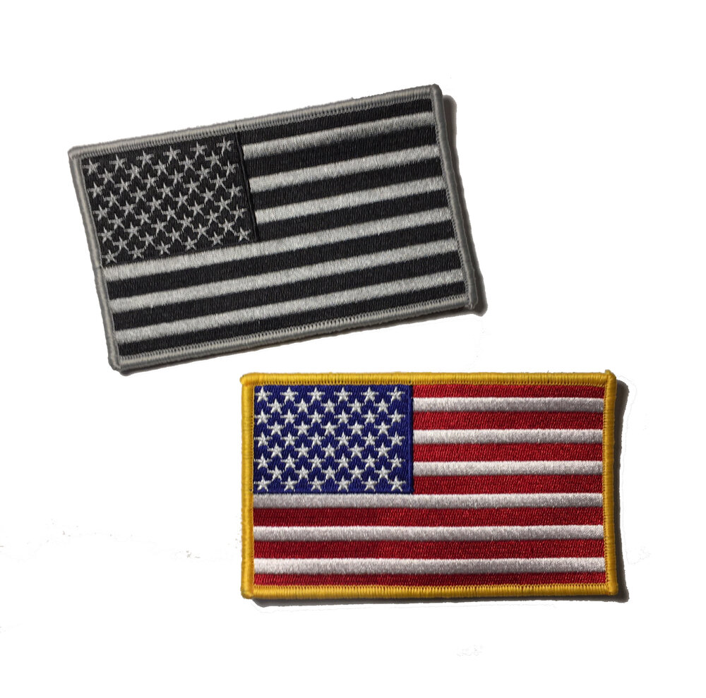 Large 5x3 Authentic Mil Spec Color Tactical Us Usa Flag Velcro Patch Choose Color Empire Tactical Usa