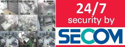 - Constant monitoring of every department (16 channels CCTV system)  - 24/7 security ensured by Seacom.