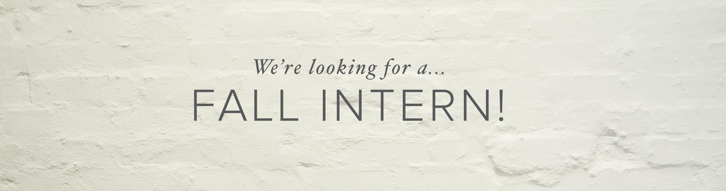 internship fall