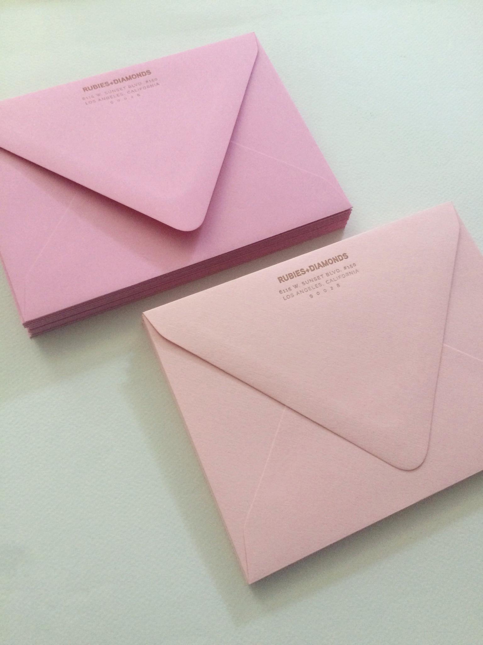 rubies and diamonds envelopes