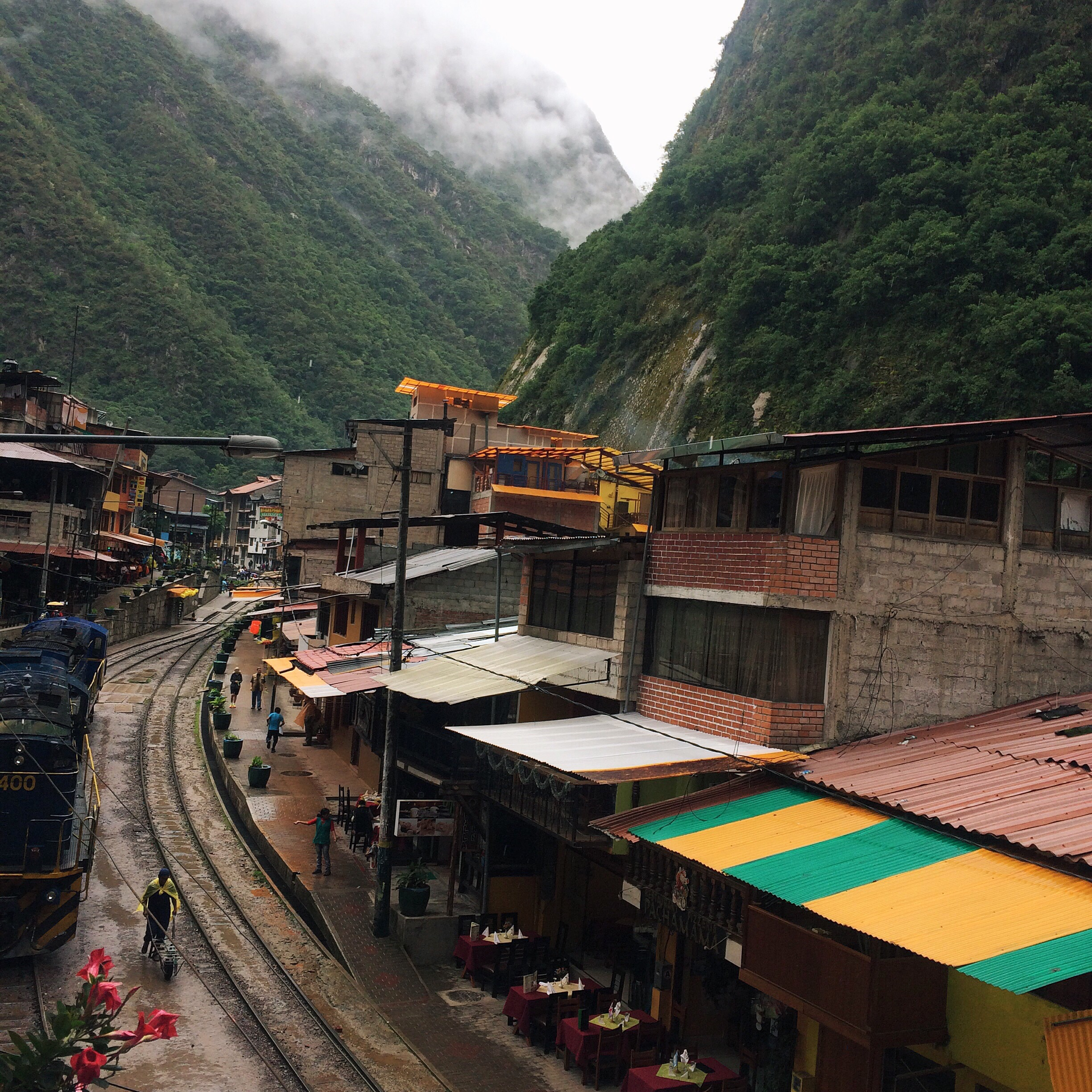 The view out of our hostel, where we began our hike in Aguas Calientes.