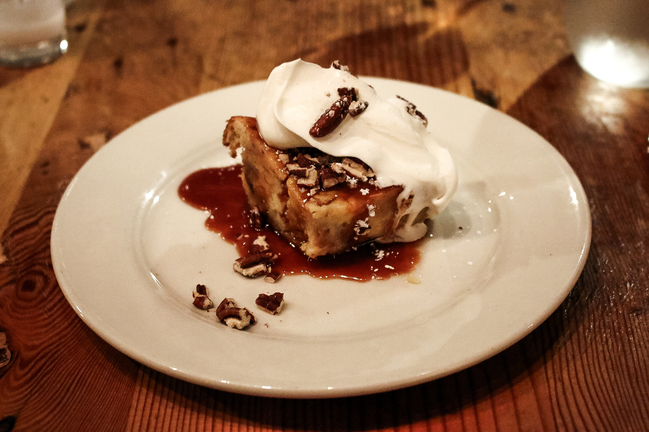 Bread Pudding at Acadia