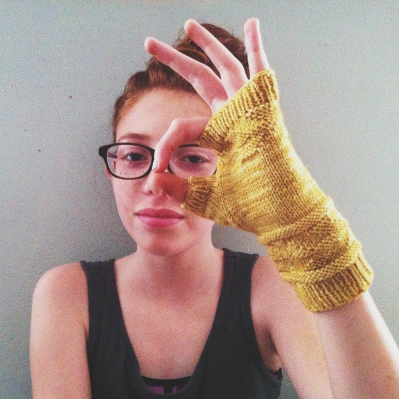 september fingerles gloves modeled by my sweet alizah