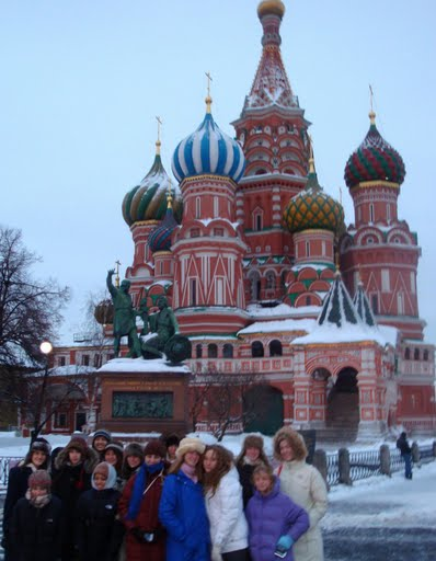 In front of the Kremlin