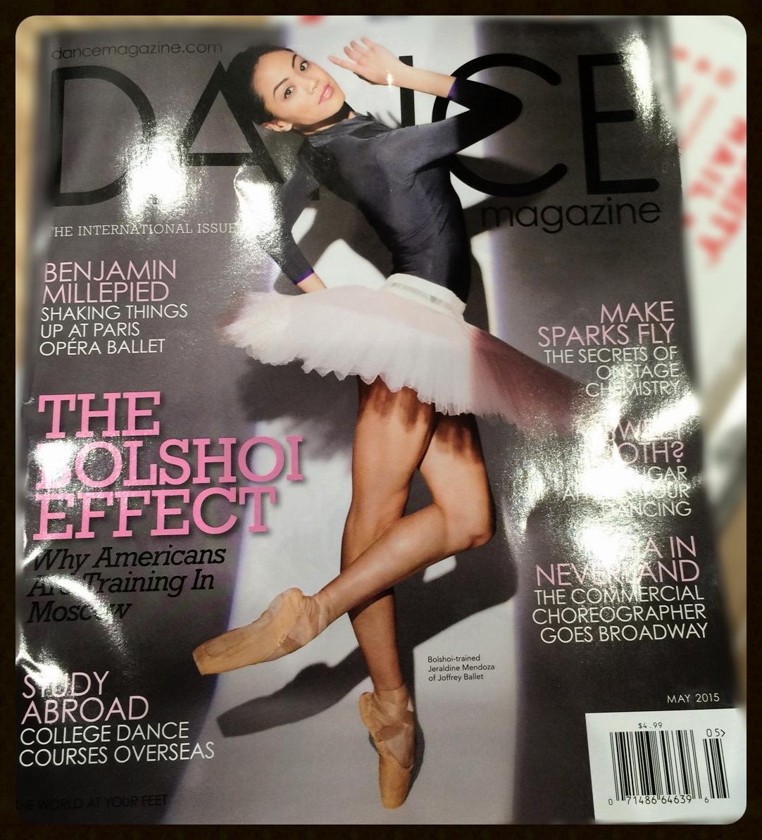 City Ballet Alumna Jeraldine Mendoza on the cover of Dance Magazine May 2015 issue