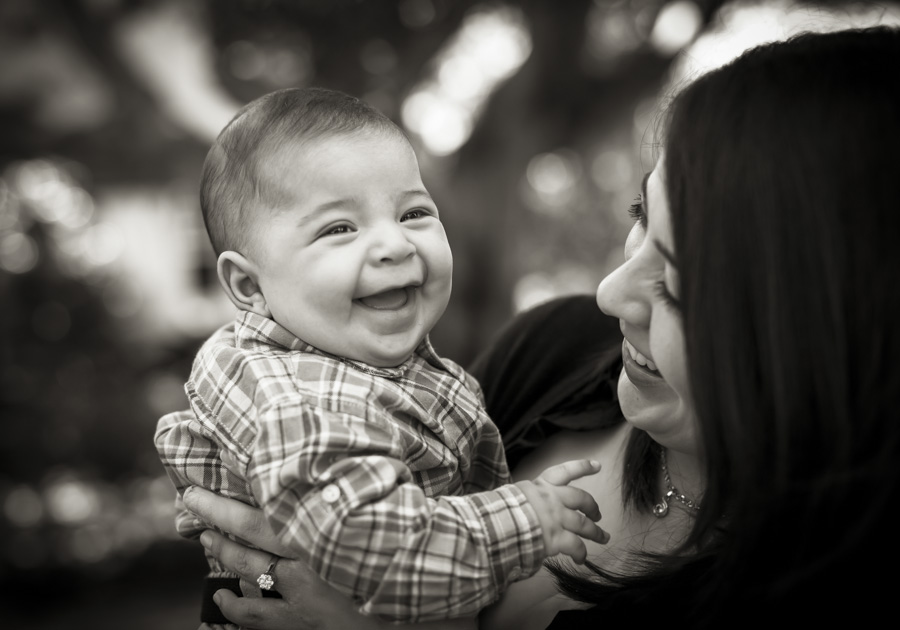 Laughing baby portraits