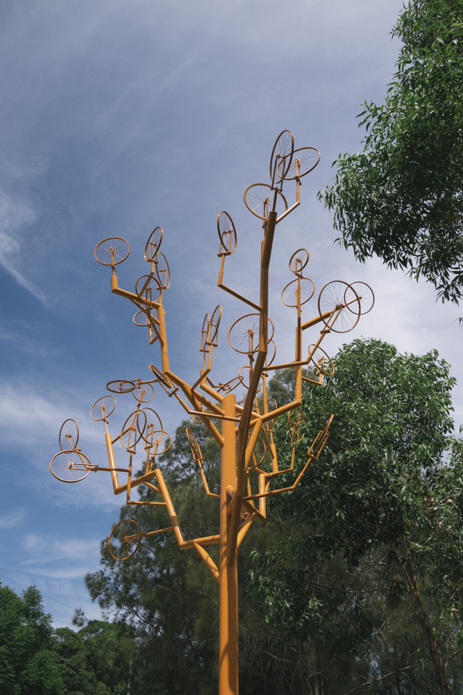 Outdoor sculptor installations