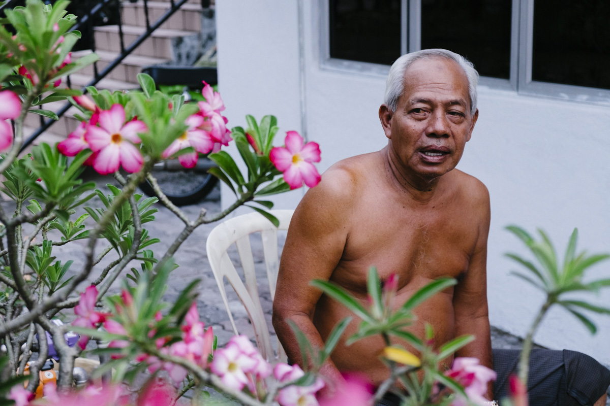 One of the local Malay elders, he was born in the house he still lives in. Kampung Baru, Kuala Lumpur.
