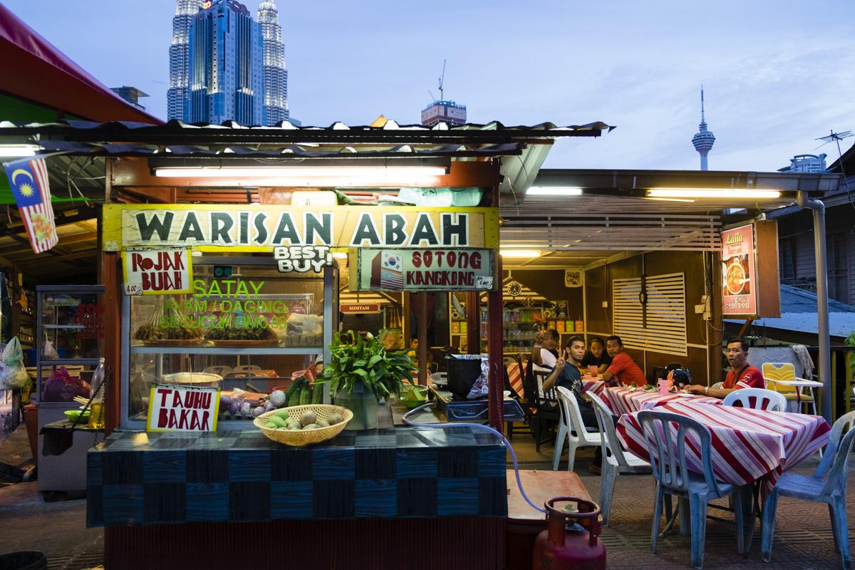 Local street food of Kampung Baru, Kuala Lumpur.