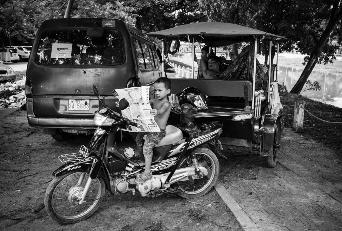 Never too early to read! Siem Reap, Cambodia.