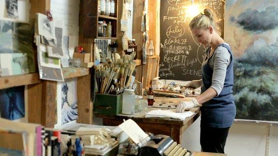 Susie Dureau in her studio