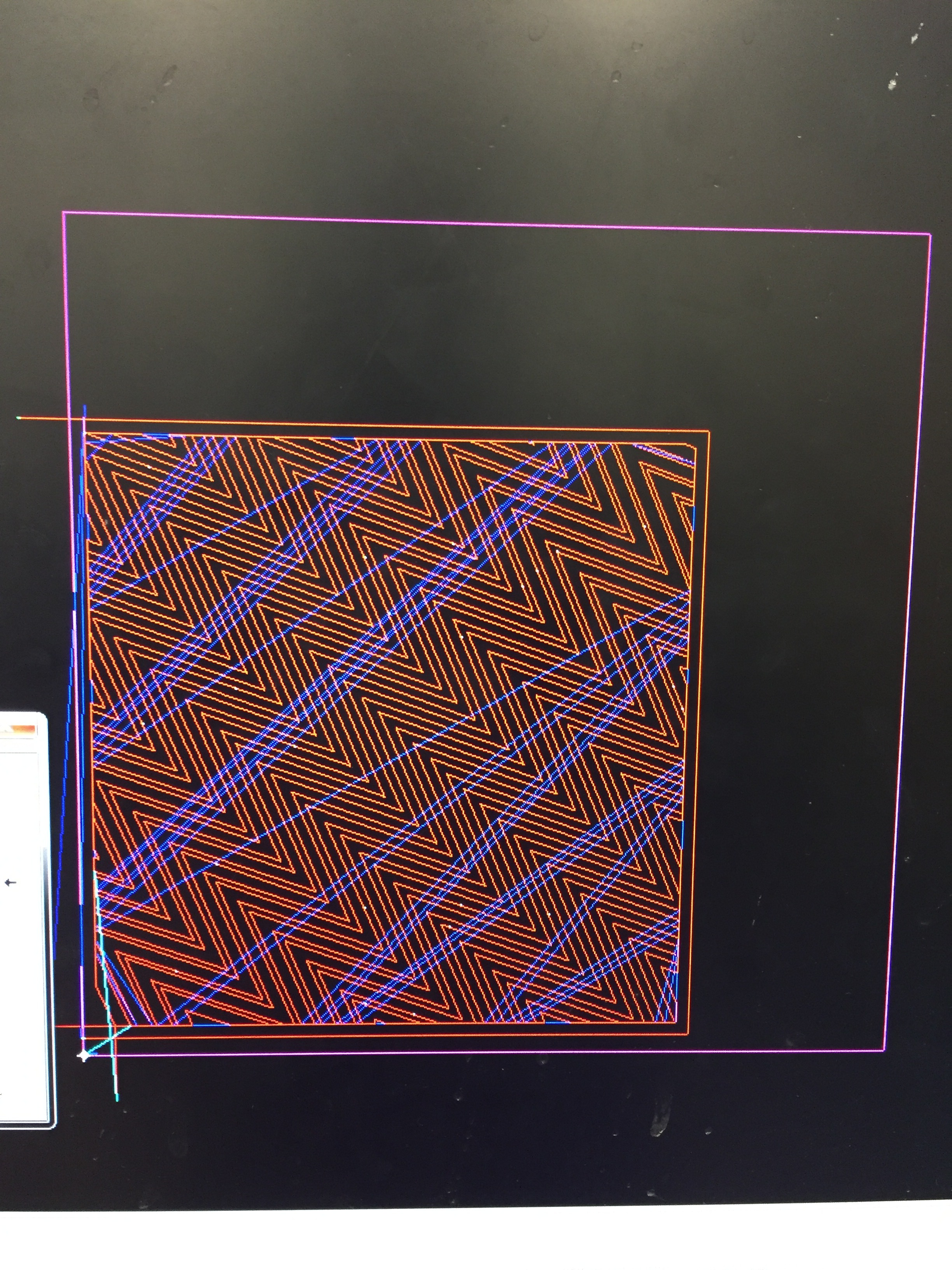 These images follow the current theme of optical illusion, using digital drawings which are converted into a CAD program for a waterjet cutter to follow.