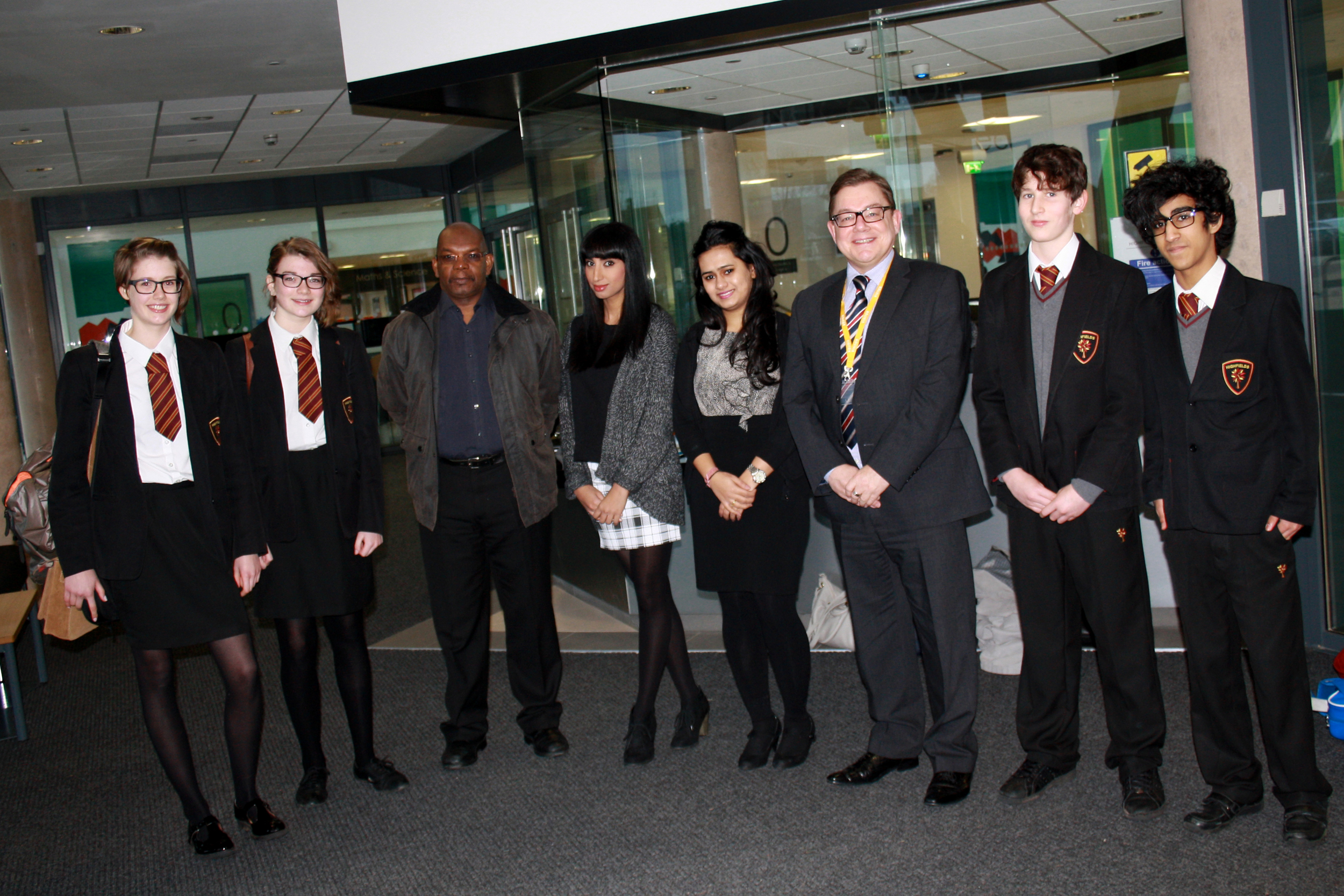 Highfields' students 'meet and greet' the Marketing Strategy Team