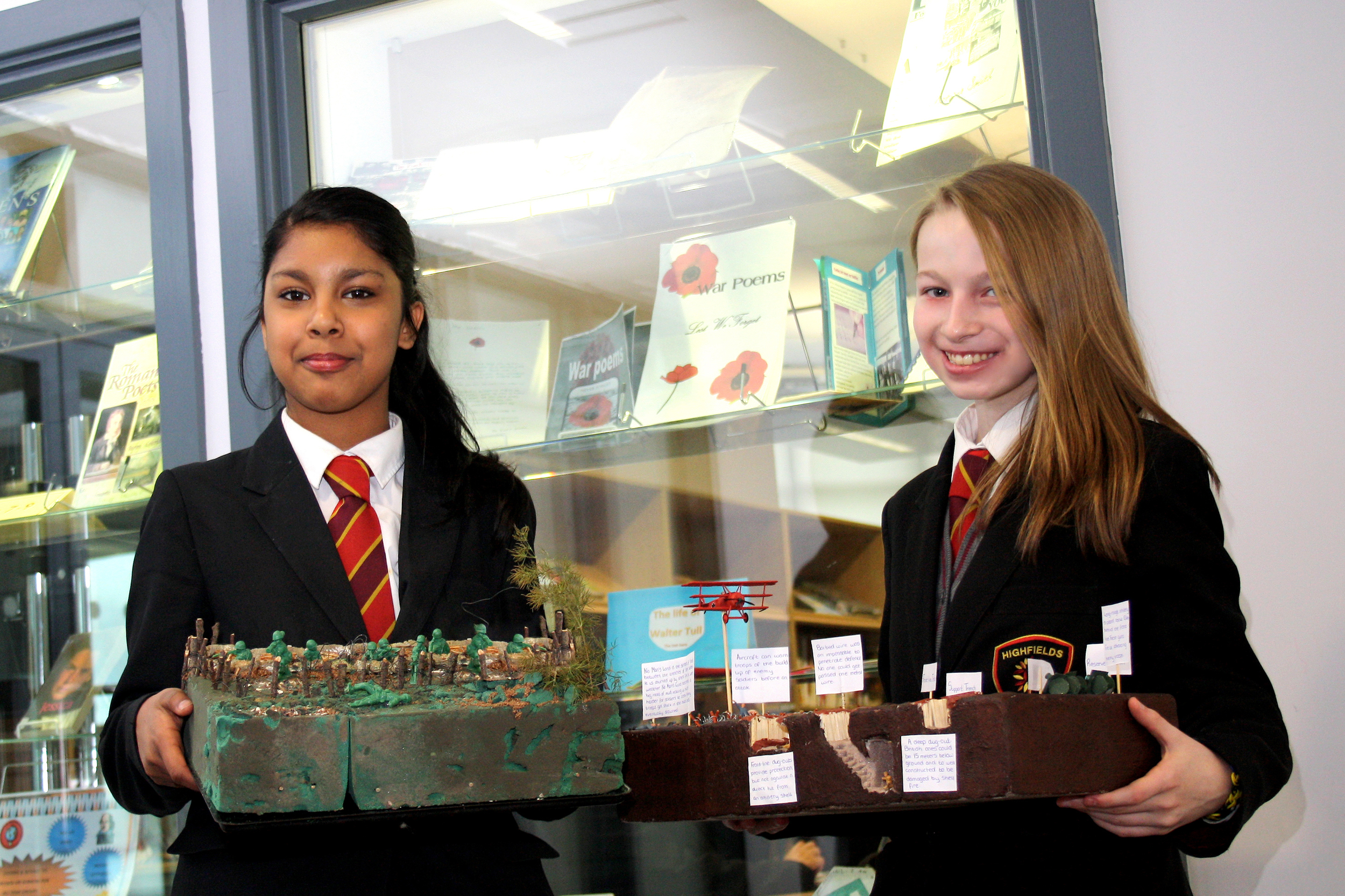 Reshma Rahman and Danielle Grimley with their fantastic models.