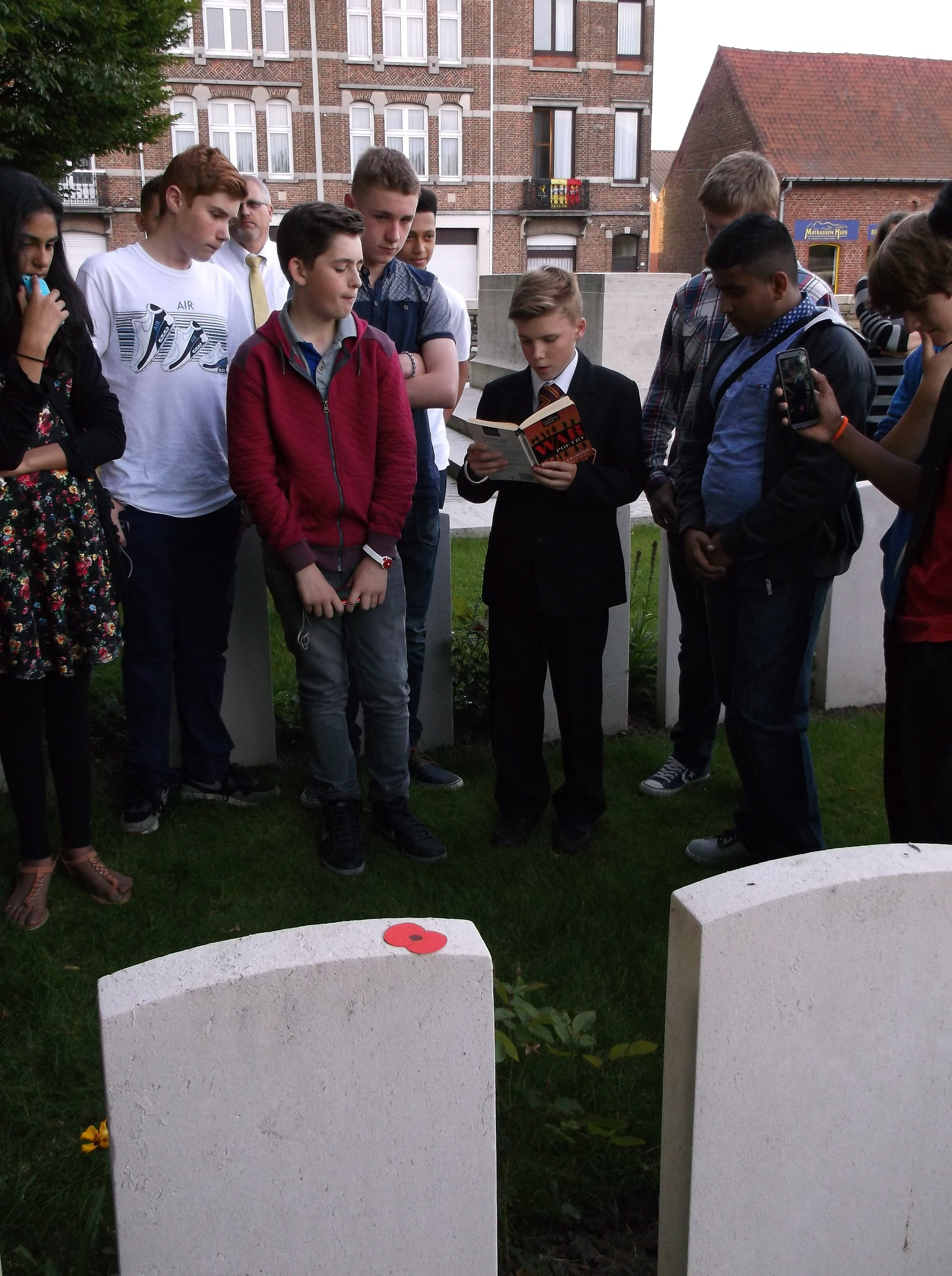 Niall reads Rupert Brooke's poem, 'The Soldier'