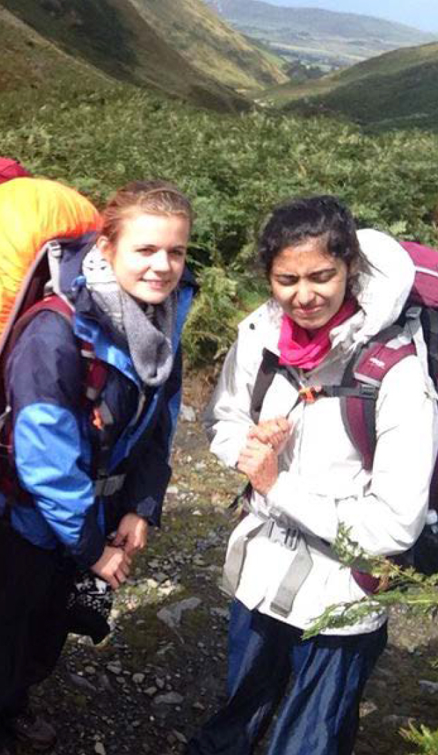 Chloe & Deenah on a DofE expedition