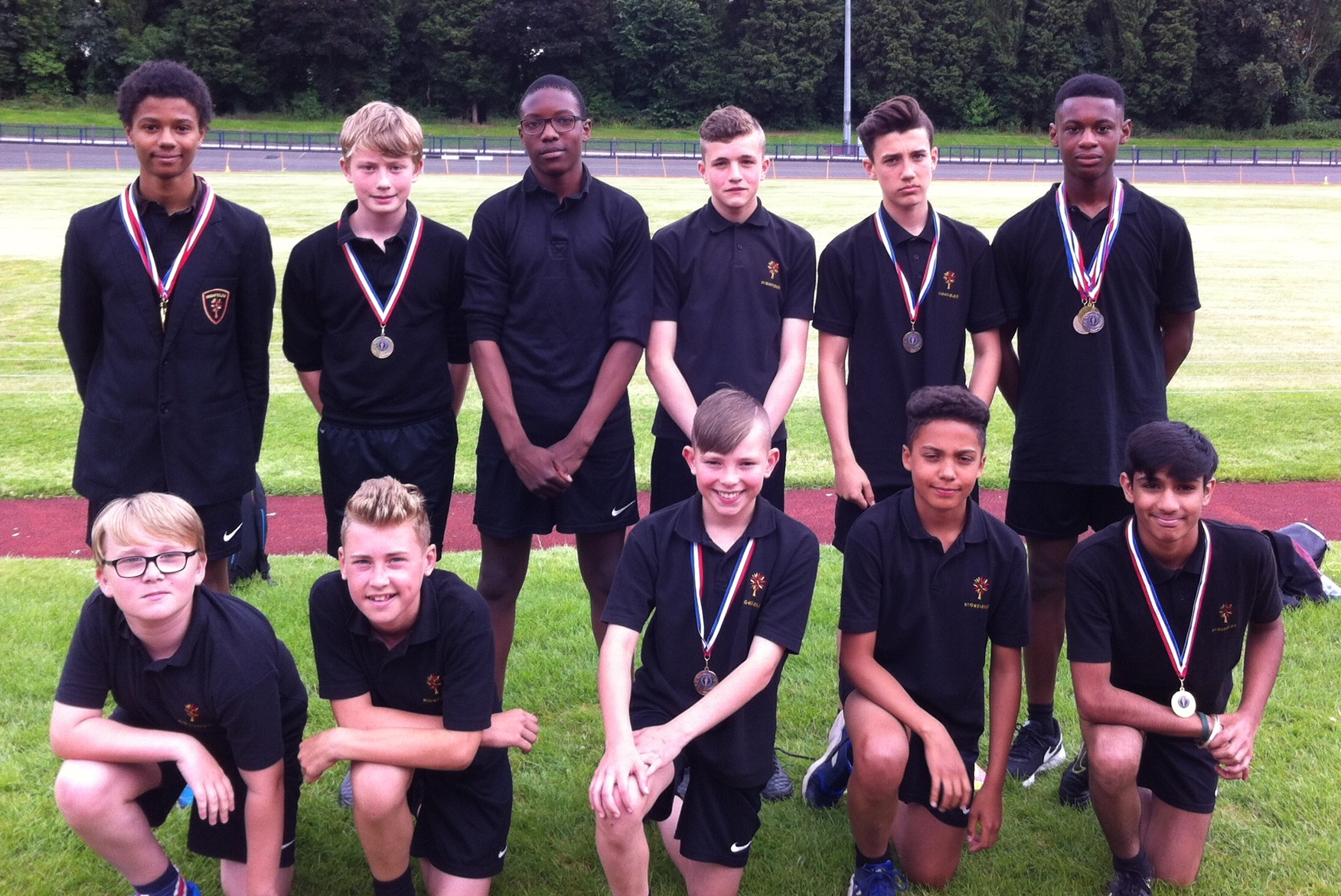 Students who made it through to the finals of the City Athletics Championships