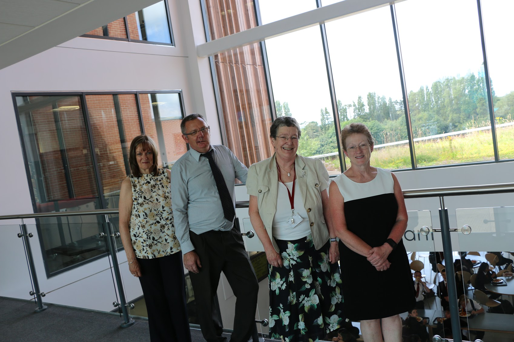 Mrs O'Shea, Mr Mark, Mrs Hall and Ms Neale are retiring after a combined 95 years at Highfields