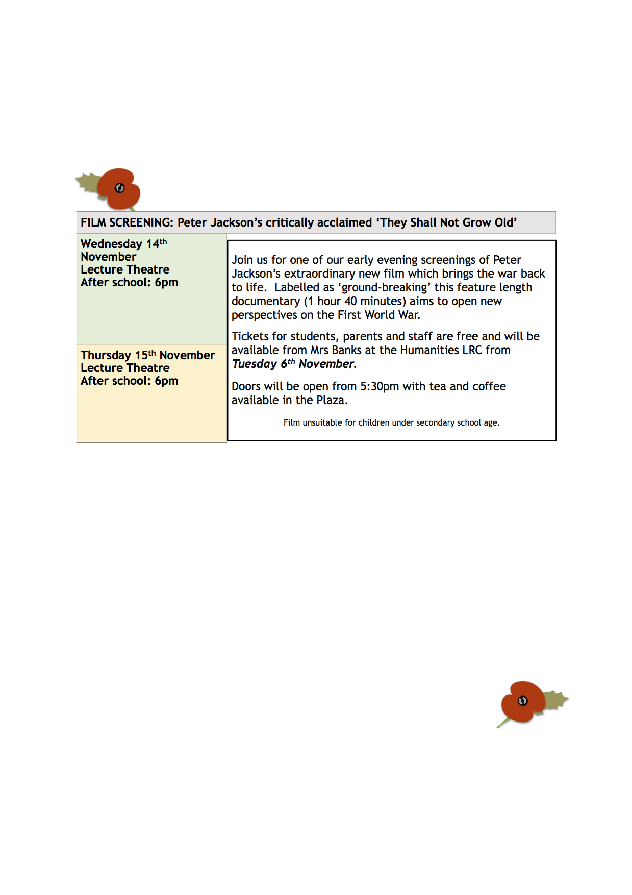 Remembrance 2018 - programme 2 of events.jpg