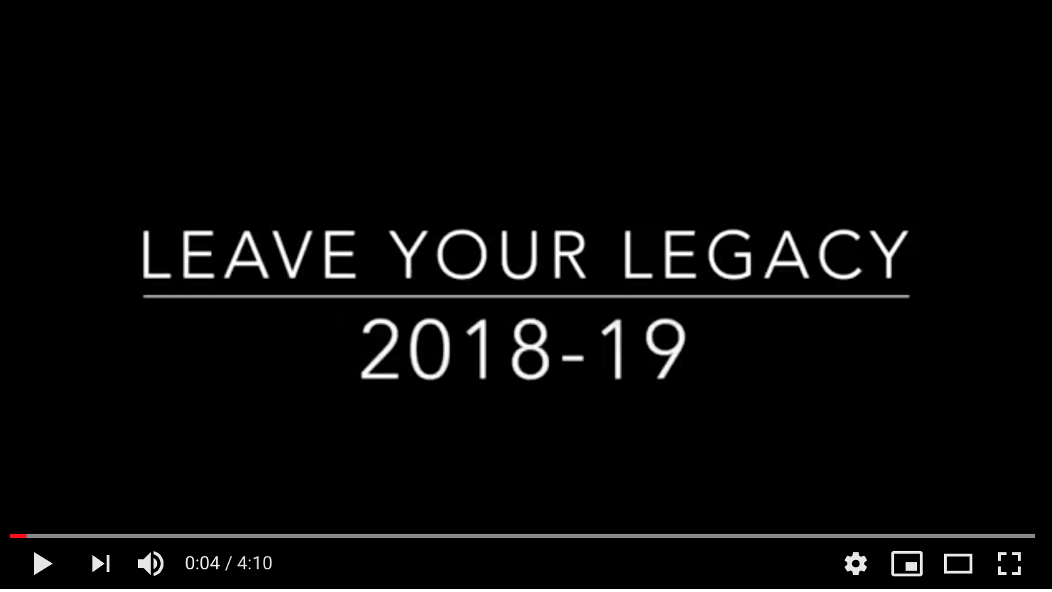 Watch our Legacy video here