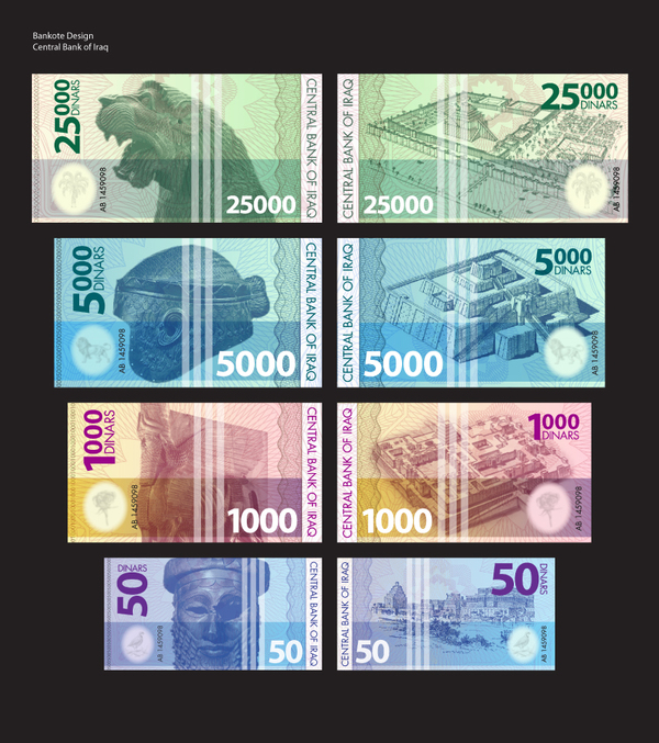 Iraqi currency redesign