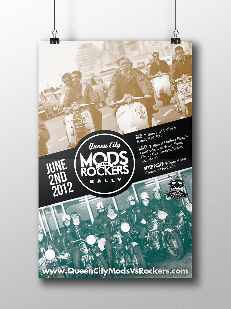 Mods and Rockers rally poster