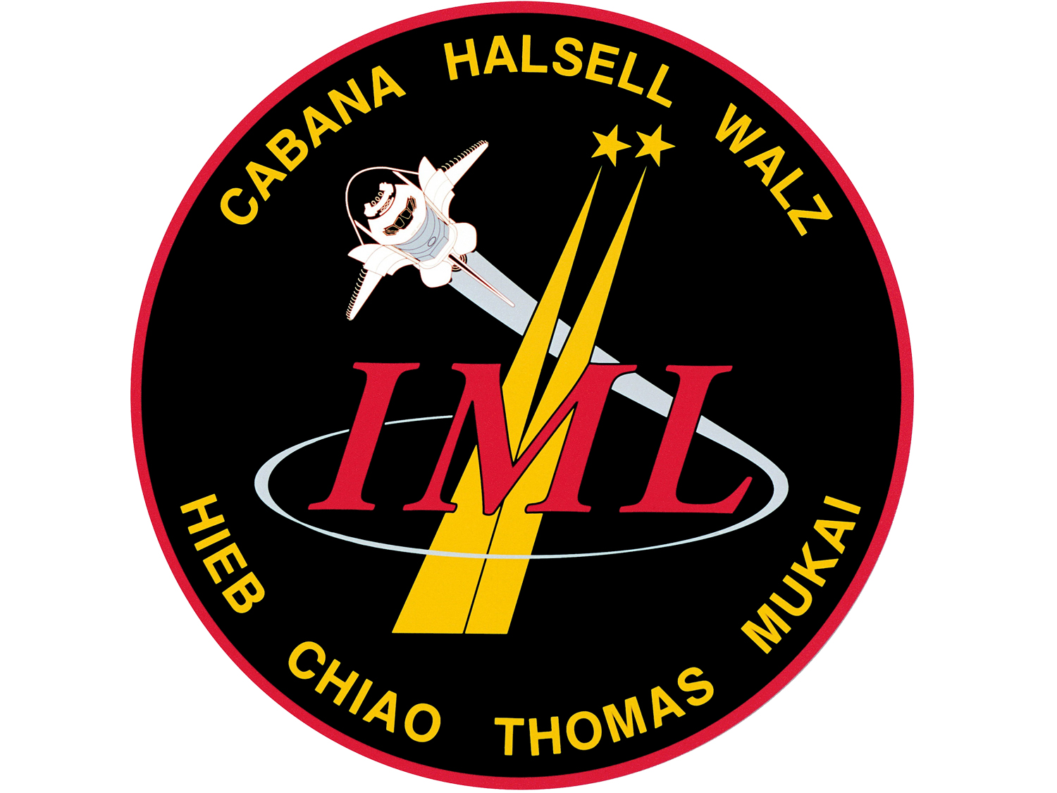 STS-65 mission patch.