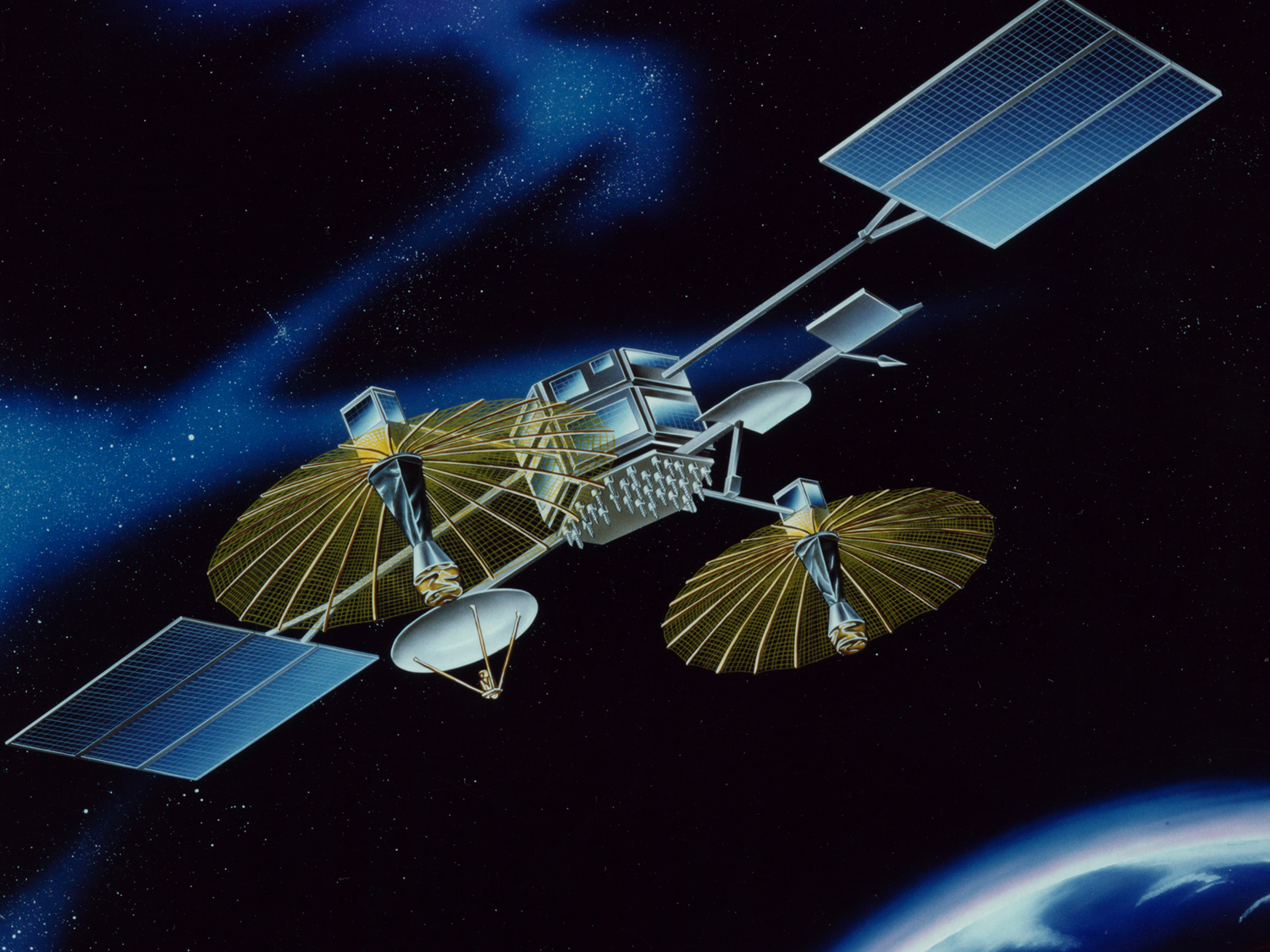 Artist rendering of the deployed TDRS.